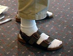 10x modebloopers van mannen witte sokken